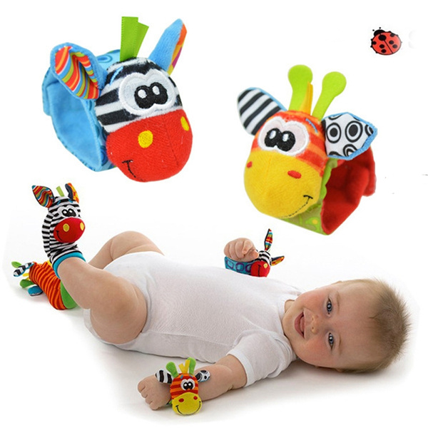 Piece New Baby A Infant Soft Toy Wrist Rattles Finders