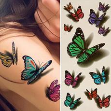 butterfly, tattoo, Moda, art