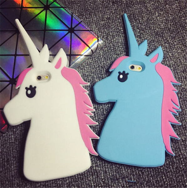 huge selection of 6150a bfdb0 Cartoon Cute Unicorn Horse Soft Case Cover for iPhone 5 5S iPhone 6 Plus  iPhone 6S Plus Samsung Galaxy S3 S4 S5 S6