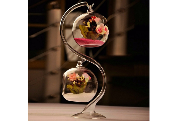 Diameter 8cm Crystal Glass Hanging Candle Holder Romantic Wedding Home Decoration