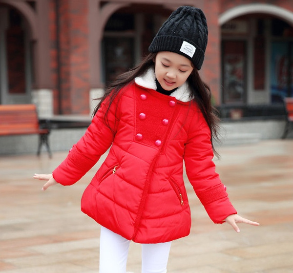 Wish Girls Winter Jackets Coats Thicken Warm Kids Teen Girl Thick Down Jacket Children Outerwears Cold Winter