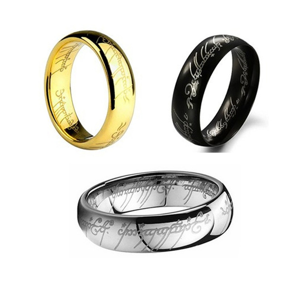 Lord Of The Rings Wedding Band.Lord Of The Rings The One Ring Lotr Titanium Steel Hobbit Wedding Band Ring Gift