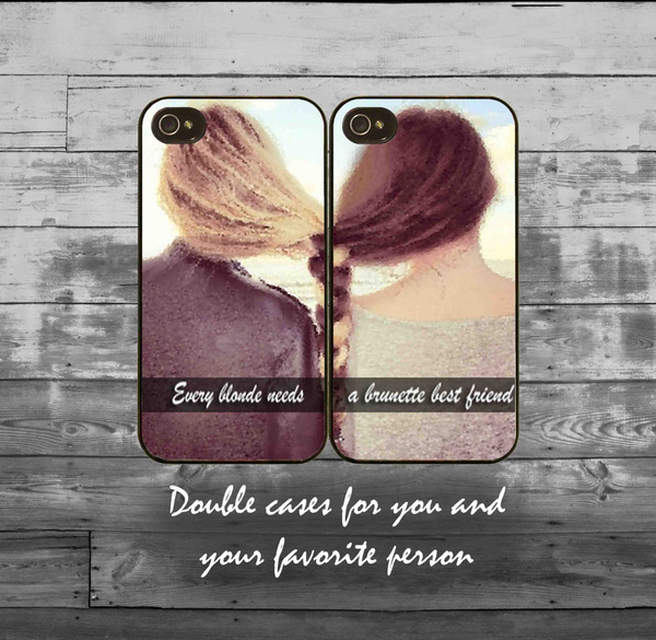size 40 c0cbe 47ff2 Every blonde need a brunette best friend iPhone cases -iPhone 4/4S, iPhone  5/5S/5C, iPhone 6/6+ case - best friends double iPhone cases