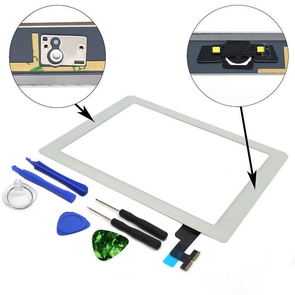 Touch Screen Glass Digitizer Replacement for IPad 2 A1395 A1396 A1397 with  Tools