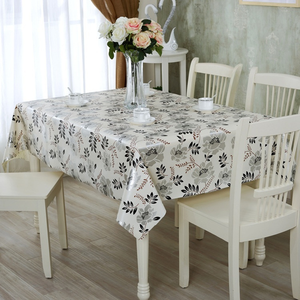 wish pvc waterproof oil cloth tablecloths tablecloth waterproof disposable coffee table cloth tablecloths plastic cover - Cloth Tablecloths
