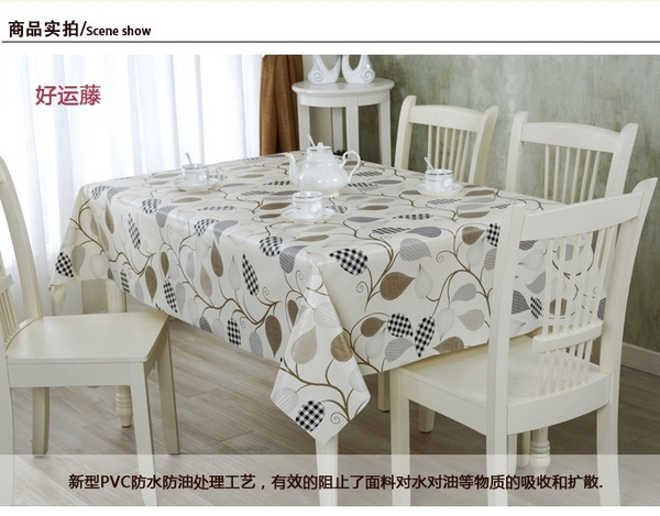 Wish   PVC Waterproof Oil Cloth Tablecloths Tablecloth Waterproof  Disposable Coffee Table Cloth Tablecloths Plastic Cover