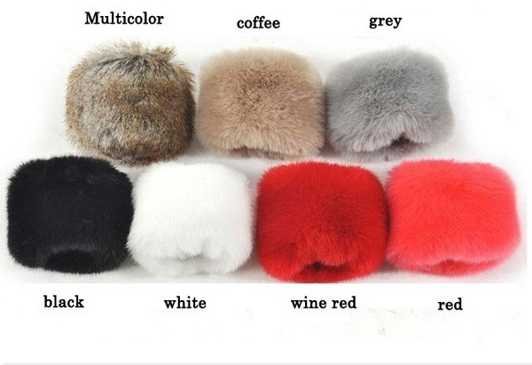 Woman Fashion Cute Lovely Warm Winter Autumn Fur Fur Sleeves Gloves Clothing Accessories