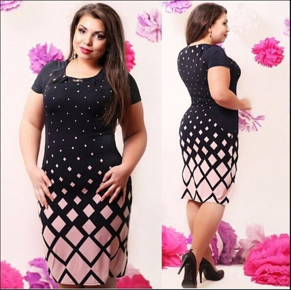 pencil, Polyester, Plus Size, Sleeve