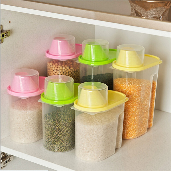 Wish   Food Grain Plastic Storage Box Containers Kitchen Accessories Candy  Box Food Container Accesorios De Cocina Kitchen Tools