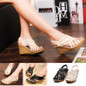 Picture of New Fashion Women Sexy Pumps Platform High Heels Wedges Sandals