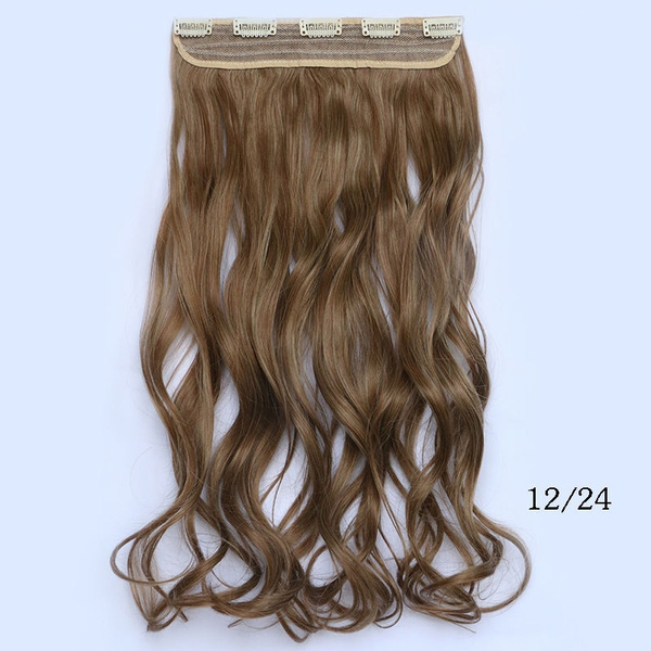 Wish Synthetic One Pcs Clip In Hair Extensions Curly 24inch 120g