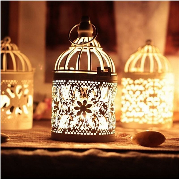 Picture of Classic Moroccan Metal Hanging Lanterns Candle Stands Hollow Candle Holder3 Pattern