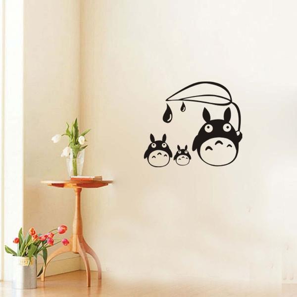 Wonderful Wish | NEW Totoro Wall Stickers Home Decor Japanese Cartoon Wallpapers Sticker  Wall Stickers For Children Room Totoro Wall Decal Decor