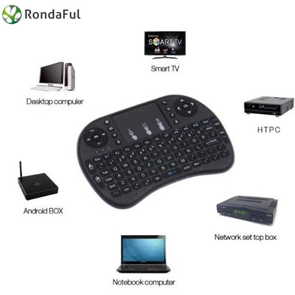 Picture of Rondaful Us Stock 2.4ghz Mini I8 2 Color Wireless Keyboard Mouse With Touchpad For Smart Tv Pc