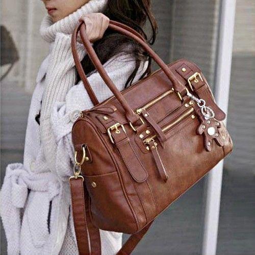 Picture of Women Pu Leather Handbag Shoulder Messneger Bag Satchel Hobo Bag Tote