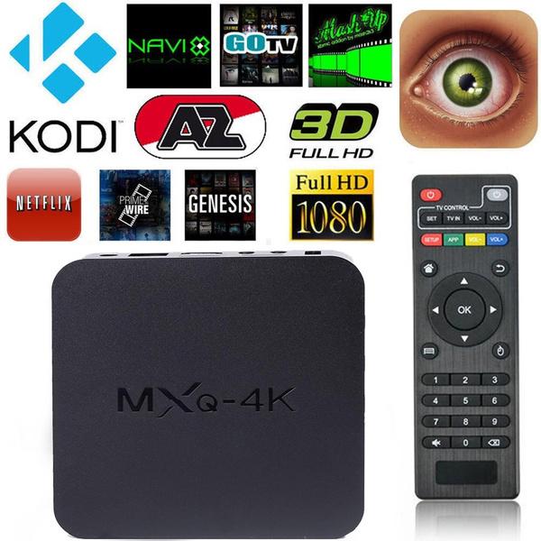 MXQ Quad Core WiFi XBMC Full HD 1080P Smart set TV Box 1G+8GB