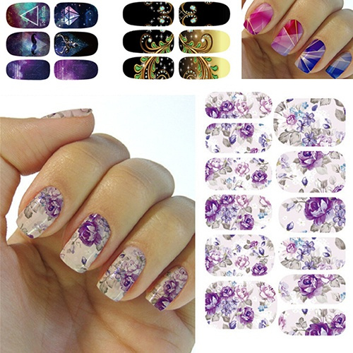 Picture of Trendy Cosmetics Water Transfer Foil Nails Art Sticker Manicure Decor Decals Wraps