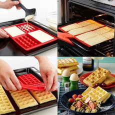 Useful 4 Cavity Waffles Cake Chocolate Pan Silicone Mold Baking Mould Kitchen Tool for Home