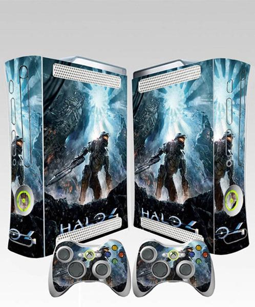 New Halo 4 Skin Sticker For Xbox 360 Fat 1 Console 2 Controllers