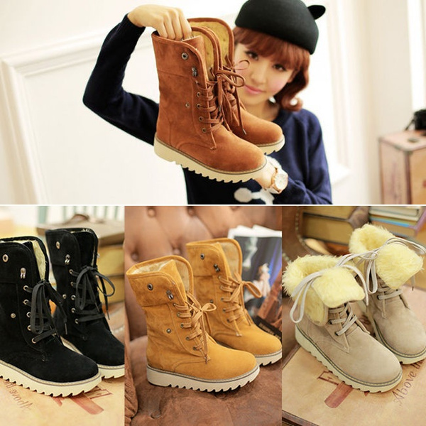Picture of Winter Casual Shoes Women's Suede Thicken Warm Snow Ankle Boots