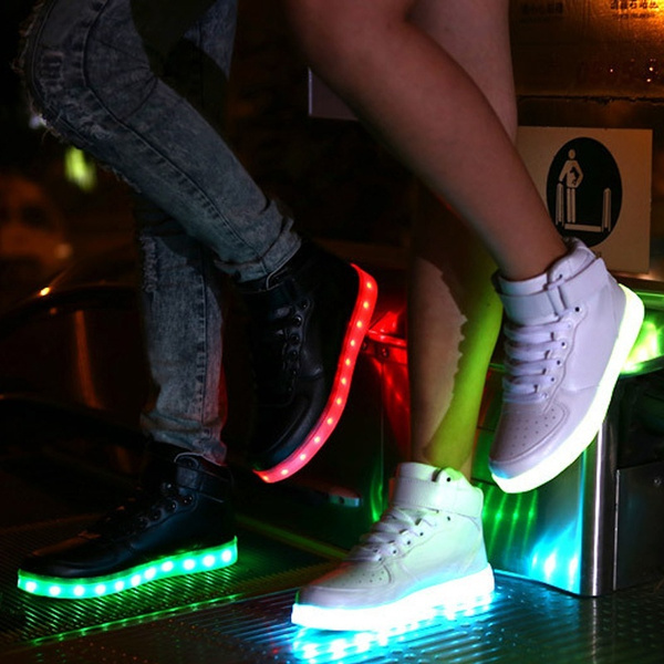 ecf85c9fdc High Quality Size 35-46 LED Luminous Shoes Men Women Unisex Couple Sneakers  Fashion Casual Flat Led Shoes For Adults USB Charging Lights Shoes