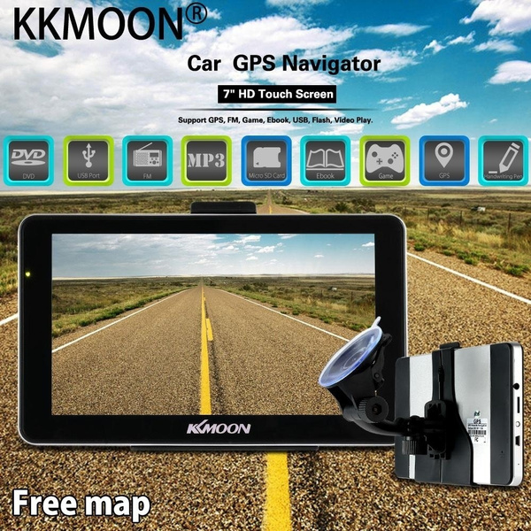 Picture of Kkmoon 7 Portable Hd Screen Gps Navigator Mp3 Fm Video Play Car Entertainment System With Handwriting Pen + Free Map