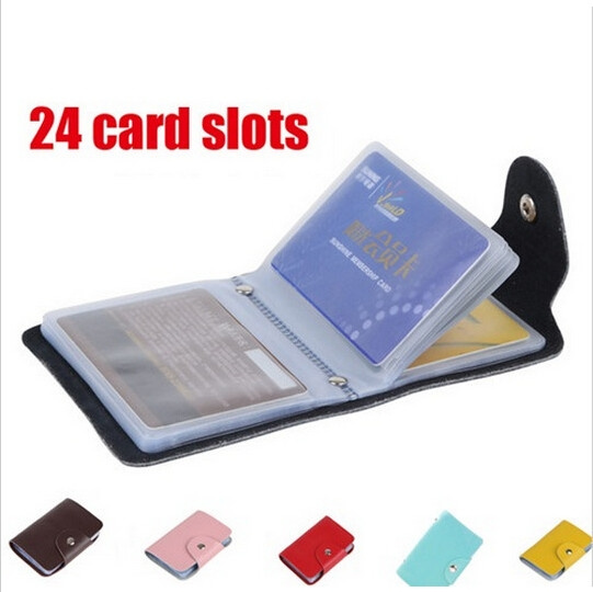 Picture of 24 Card Slots Men's Women Leather Credit Card Holder/case Card Holder Wallet Business Card Package Pu Leather Bag