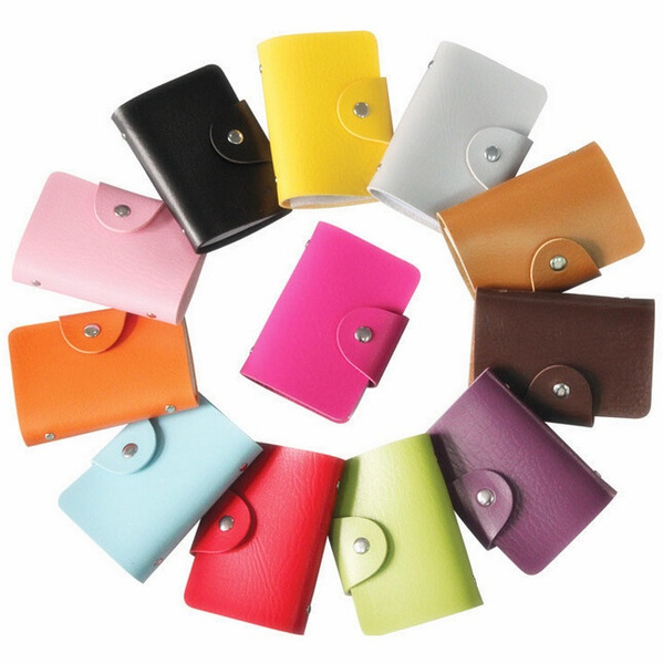 24 card slots Men's Women Leather Credit Card Holder/Case card holder wallet Business Card Package PU Leather Bag