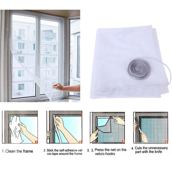Bug Insect Mosquito Fly Net Sticky Anti-Insect Mesh Screen Protector Window DIY