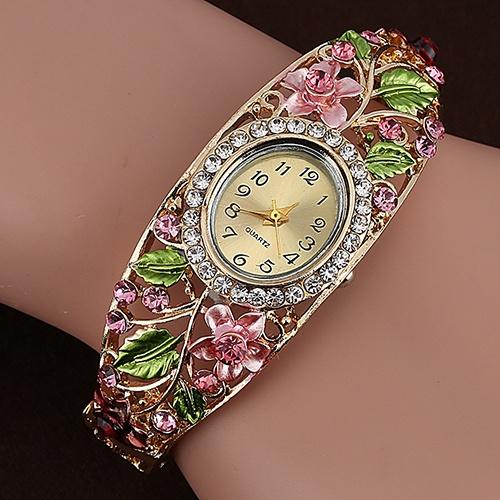 Picture of Lady Womens Crystal Bracelet Dress Quartz Wrist Watch