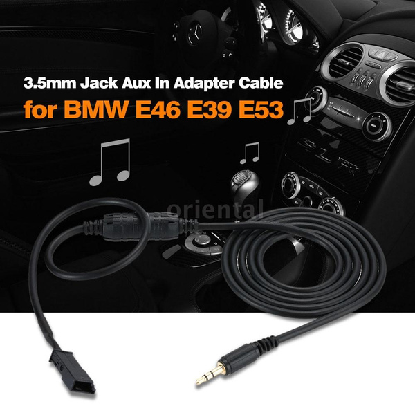 Professional Design 3 5mm Jack Aux In Adapter Cable for iPod iPhone MP3 CD  Player Music Radio Interface for BMW E39 E46 E53 mens watches