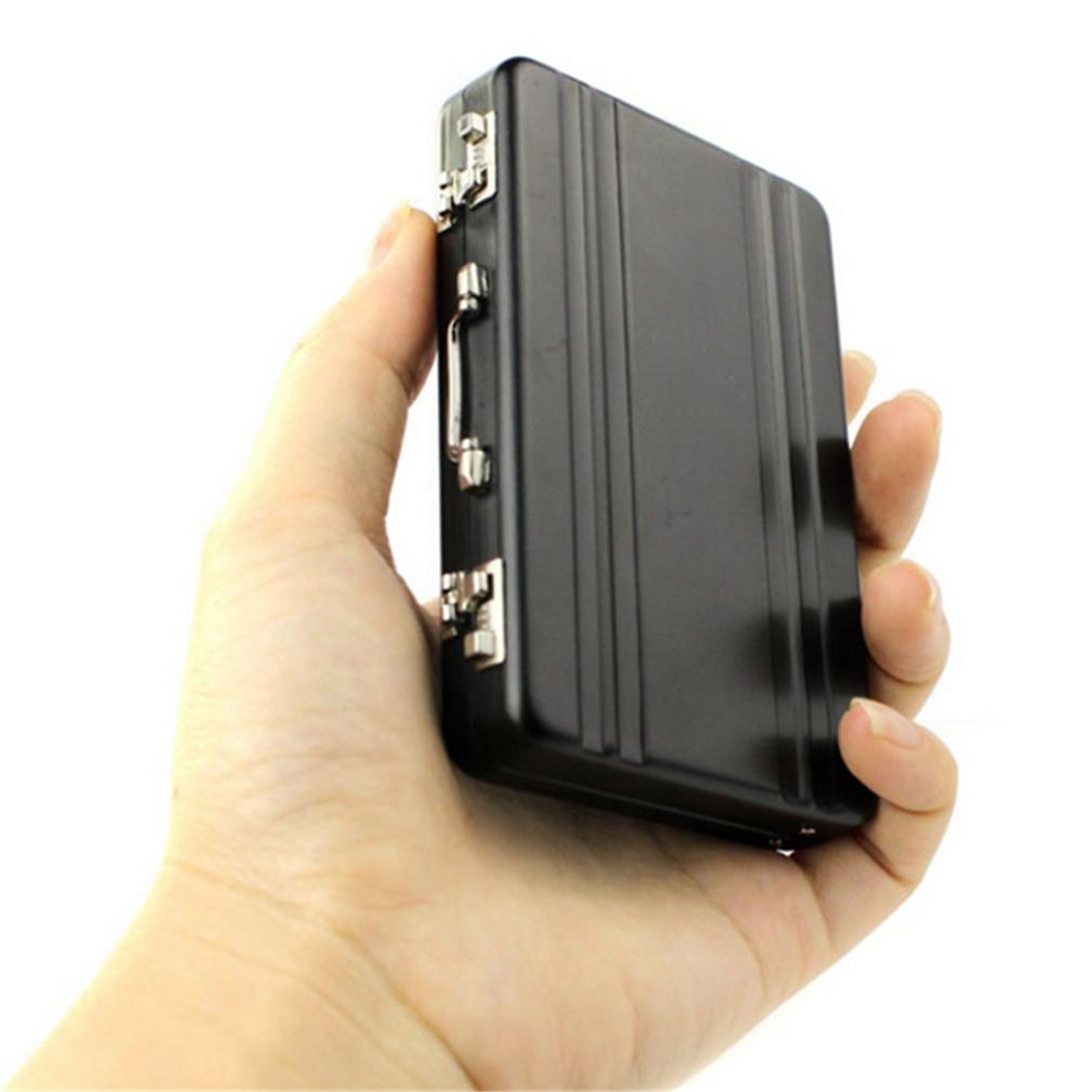 Lock Box Modeling Suitcase Aluminum Metal Business Card Holder ...