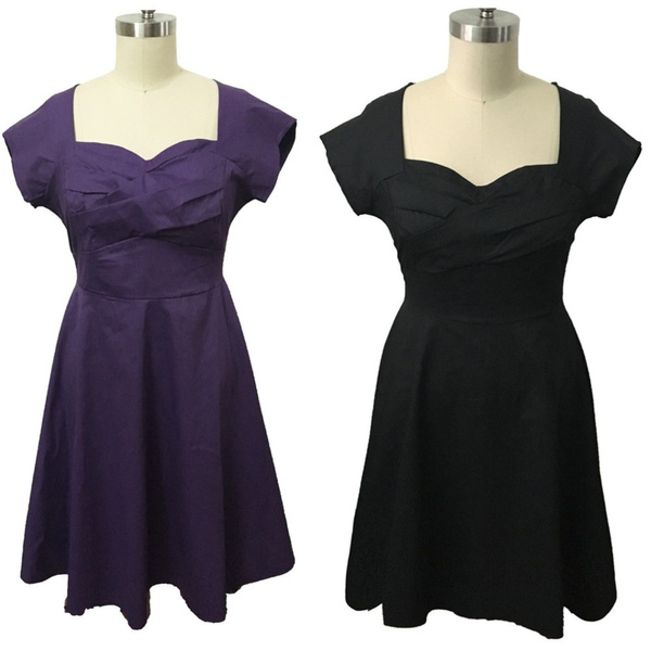 Plus Size XL-5XL Women vintage 50\'s Housewife Pinup Rockabilly Party Swing  Dress