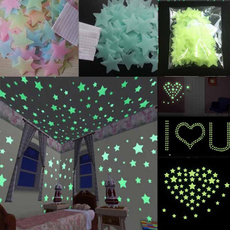 100 PCS Wall Stickers Decal Glow In The Dark Baby Kids Bedroom Home Decor Color Stars Luminous Fluorescent Wall Stickers Decal