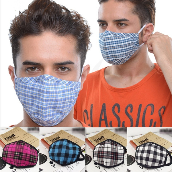 Dust Feelingirl Mack Cute Warm Mouth Lattice Lovely Fashion Face Cloth Cotton Mouth-muffle Masks Surgical Mask Kpop