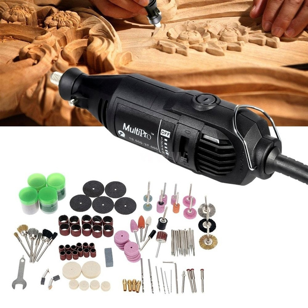 Wish | Professional Multi-function Electric Grinding Set 110-230V AC Regulating Speed Drill Grinder Tool for Milling Polishing Drilling Cutting Engraving ...