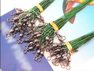 72 Traces Wires Pike Card Rolling Swivels Safety Snap Fishing Lures Hook BY3783