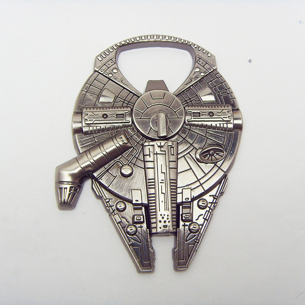 Picture of High Quality Star Wars Millennium Falcon Metal Alloy Bottle Opener Color Silver