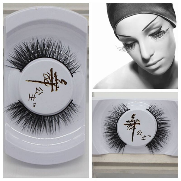 Picture of Black Luxurious 100 Real Mink Long Natural Thick Eye Lashes False Eyelashes