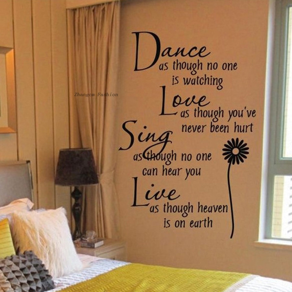 Picture of New Fashion Hot Home Decoration Dance Love Sing Live Wall Sticker Quotes Decals Removable Stickers Decor Vinyl Art Stickers Hg-ws-1578