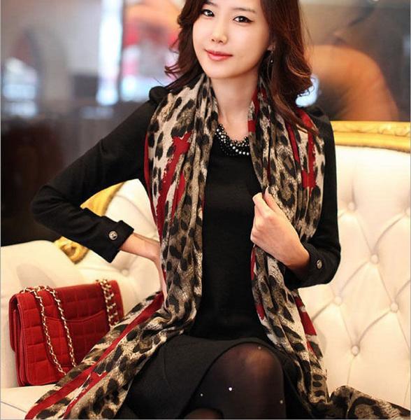 Scarves, Fashion, chiffon, Leopard
