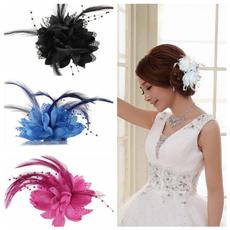 Hairpieces, hairclipstie, Wedding Accessories, flowerheadpiece