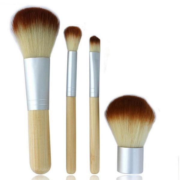 Hot New 4pcs Pro Makeup Cosmetic Blush Brush Foundation Powder Kabuki Brushes Kit