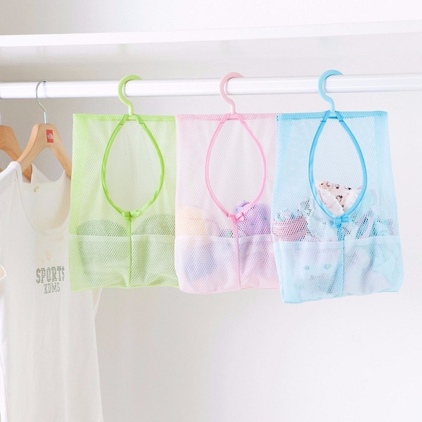 Wish | Bathroom Accessories Hanging Mesh Storage Bag Toy Organizer Hook  Home Organization Laundry Clothes Bags Holder