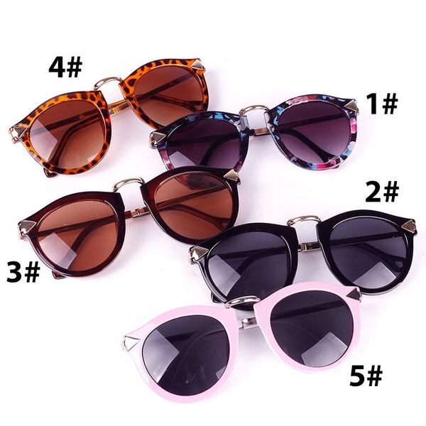 Picture of Women Sunglasses Arrow Style Female Glasses Metal Frame Round Sun Glasses