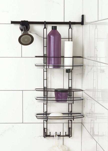 Wish | Wish Only Mount Shower Caddy Shelf Rack Bronze Storage Organizer  Home Bathroom Space Side