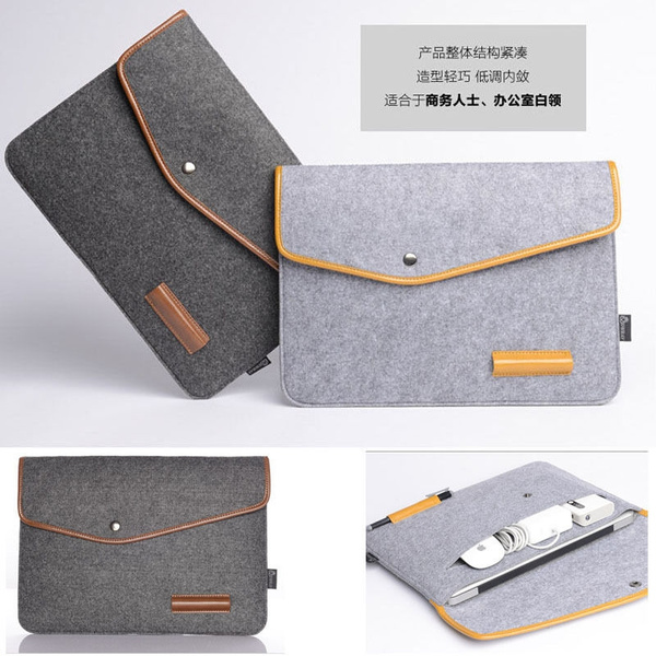 Picture of Woolen Felt 11 12 13 15 '' Laptop Sleeve Bag Case For Hp Ibm Macbook Air Pro