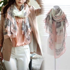 elegantwomenlongprintcottonscarf, Scarves, Fashion, ladiesshawllargesilkscarve