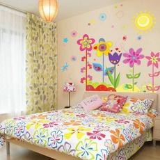 Hot New Fashion Magic Colorful Sunshine Flowers Life Wall Sticker Home Decor High Quality