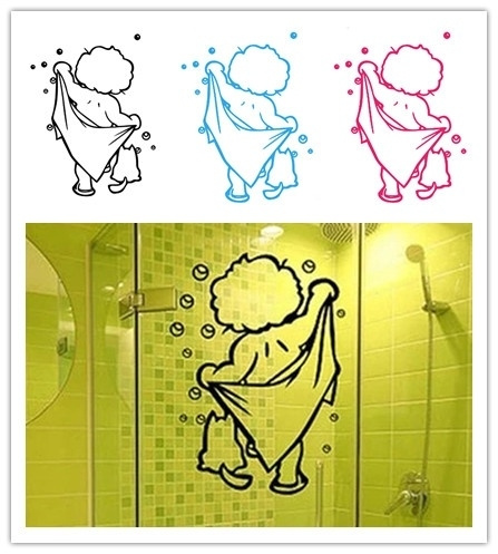 PVC wall stickers, bathroomsticker, Home Decor, Stickers